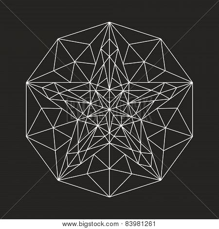 Geometric low poly line star