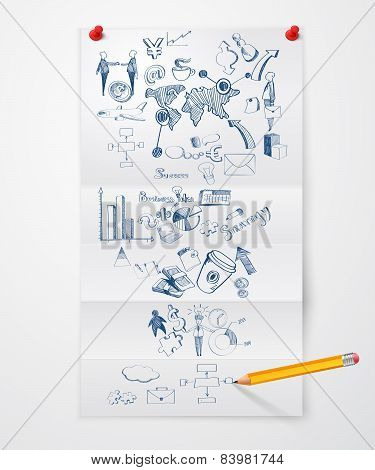Business doodle paper sheet