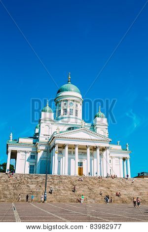 Helsinki Cathedral, Helsinki, Finland. Summer Sunny Day