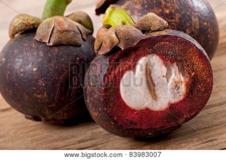 Fresh mangosteen fruit