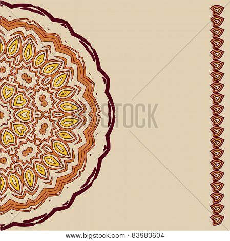 Lace  Floral Ethnic Ornament Artwork