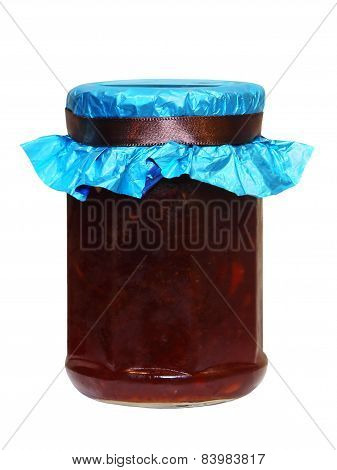 Berry Jam Jar.isolated.