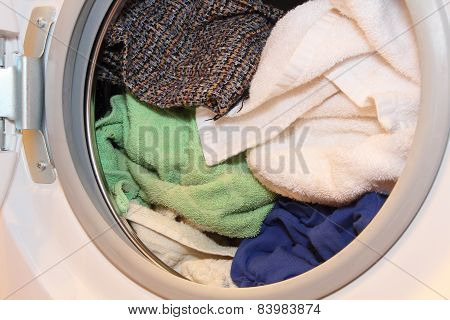 Clothes In Washing Machine.