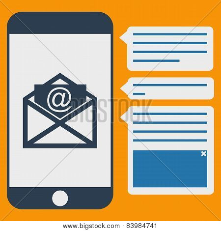 Vector phone messages