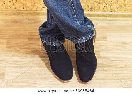 Presentation Of New Models Of Men's Suede Shoes