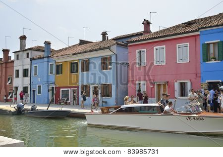 Taxi On Burano Canal