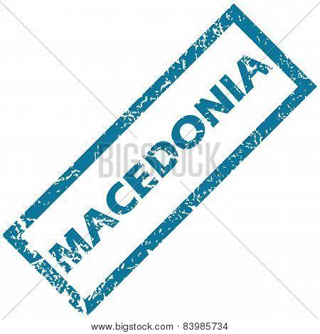 Macedonia rubber stamp