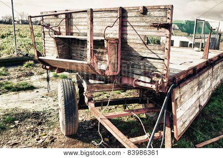 Old Farm Rusty Trailer