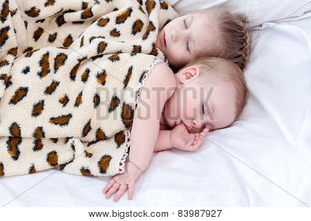 Two sleeping child