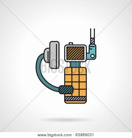 Flat color vector icon for portable radio
