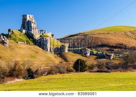 Corfe Castle Dorset England