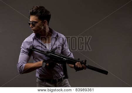 Shooter With Rifle