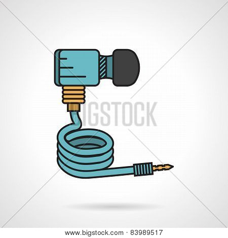 Paintball dioxide hose vector icon