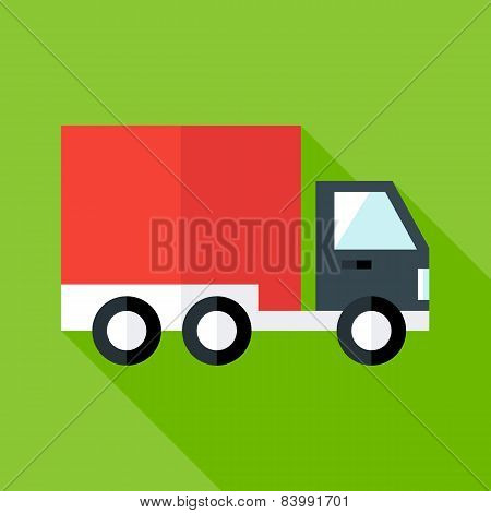 Shipping And Free Delivery Flat Illustration