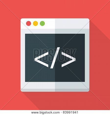 Website Coding Flat Stylized Illustration