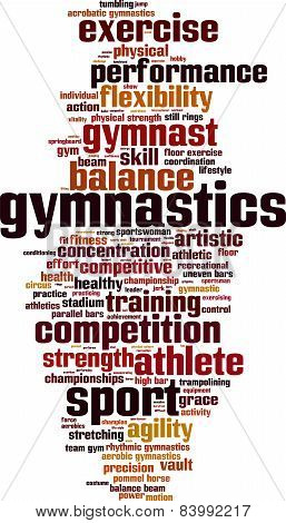 Gymnastics Word Cloud