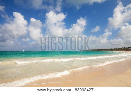 Bright Empty Coastal Landscape. Atlantic Ocean Coast