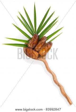 Date Fruits In A Spoon
