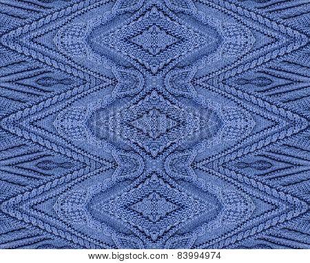 Purple cotton knitting design