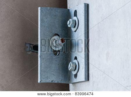 Metal Corner Bracket On Concrete Wall