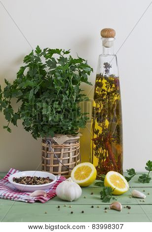 Olive Oil And Fresh Spices