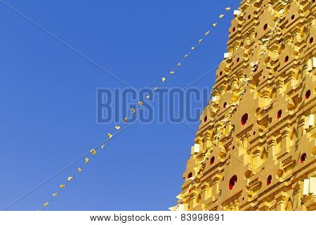 Stupa Gold And Blue Sky