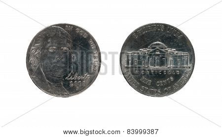 Five United States Cents Coin