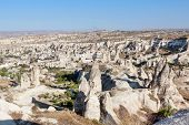 stock photo of goreme  - View of the small town Goreme in Cappadocia; Turkey