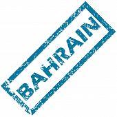 image of bahrain  - Bahrain grunge rubber stamp on a white background - JPG