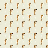 foto of rabies  - Seamless pattern with dachshund and trace vector background - JPG