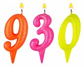 Постер, плакат: Candles Number Nine Hundred Thirty