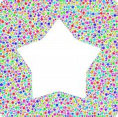 picture of harlequin  - Smoothed star into a square icon - JPG