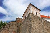 image of yellow castle  - Palanok Castle  - JPG