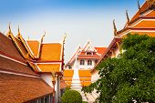 picture of gable-roof  - Typical architecture roofs in Buddhist monasteries - JPG