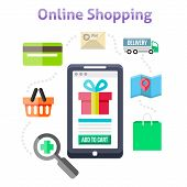 ������, ������: Online Shopping Icons