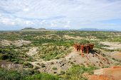 picture of ravines  - View of ravine Olduvai Gorge one of the most important paleoanthropological sites in the world  - JPG