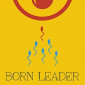 stock photo of tadpole  - Vector born leader flat - JPG