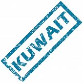 picture of kuwait  - Kuwait grunge rubber stamp on a white background - JPG