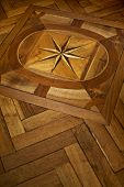 foto of marquetry  - Stylish wooden floor in a French home