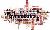 picture of gymnastic  - Gymnastics word cloud concept - JPG