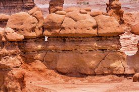 image of hoodoo  - Mushroom Shaped Hoodoos Goblin Valley State Park Rock Canyon San Rafael Desert Utah USA Southwest - JPG