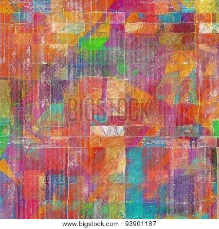 Grunge texture, may be used as background. With different color patterns: yellow (beige); green; blue; purple (violet); red (orange)