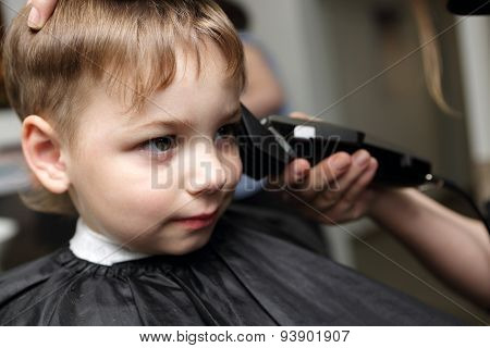 Preschooler At Hairdresser Salon