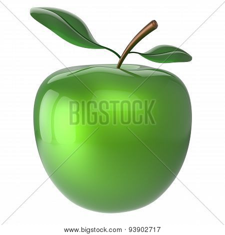 Apple Fruit Antioxidant Green Fresh Ripe Exotic Organic Icon