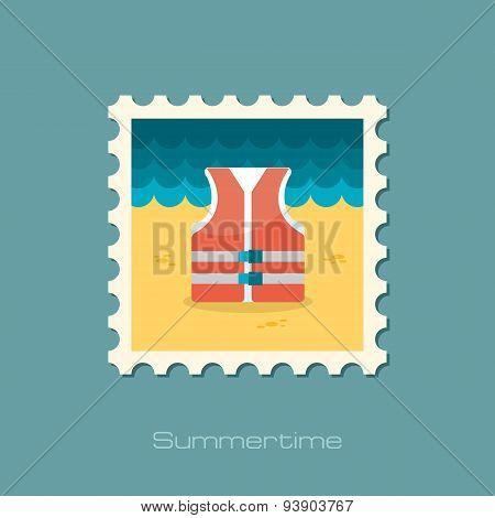Life Jacket Flat Stamp