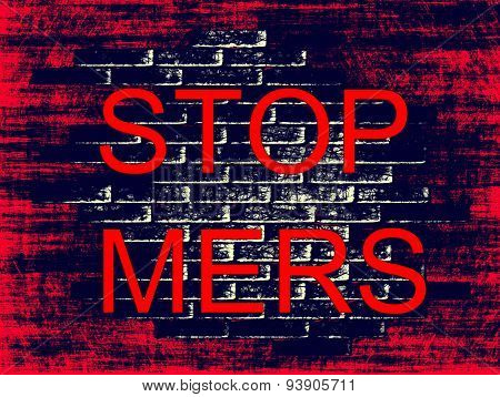 Stop Mers Virus Epidemic Concept.digitally Generated Image.