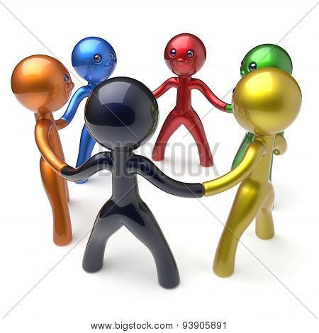 Teamwork Circle People Social Network Human Resources