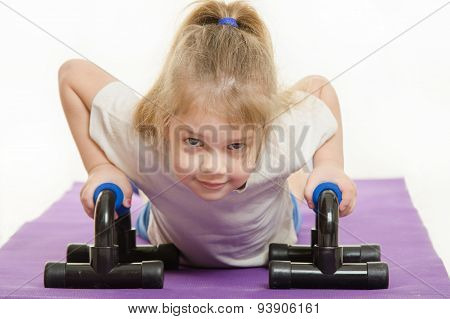 Four-year Girl Exercising