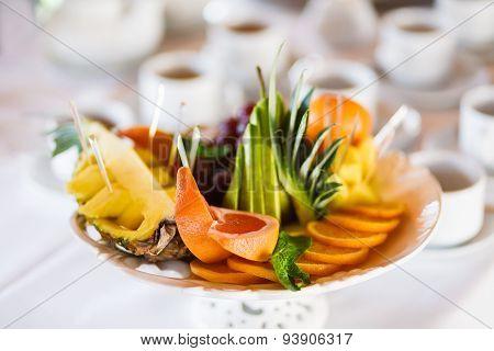 Fruit Platter - Plate With Fruit Assortment