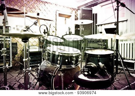Drums In The Studio.